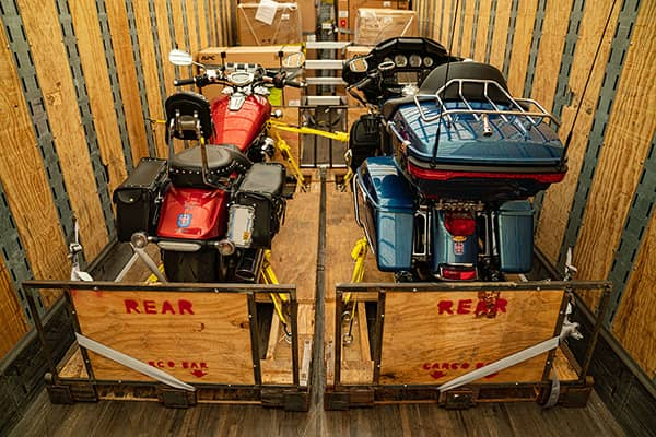 Shipping a motorcycle across country